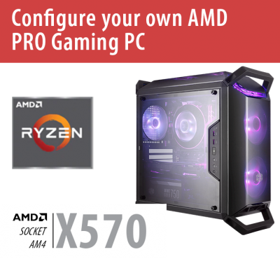 Build your own AMD PRO Gaming PC – X570/Q300P/Win10PRO – BYO-Q300PAMD01