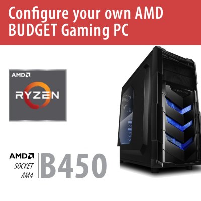 Build your own AMD BUDGET Gaming PC – B450/VORTEX/Win10HOME – BYO-VORTEXAMD01