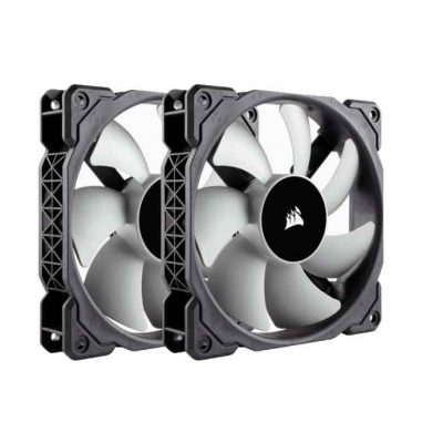 Corsair ML120 120mm PWM 40 – 2400 RPM Premium Magnetic Levitation Fan; Dual Pack