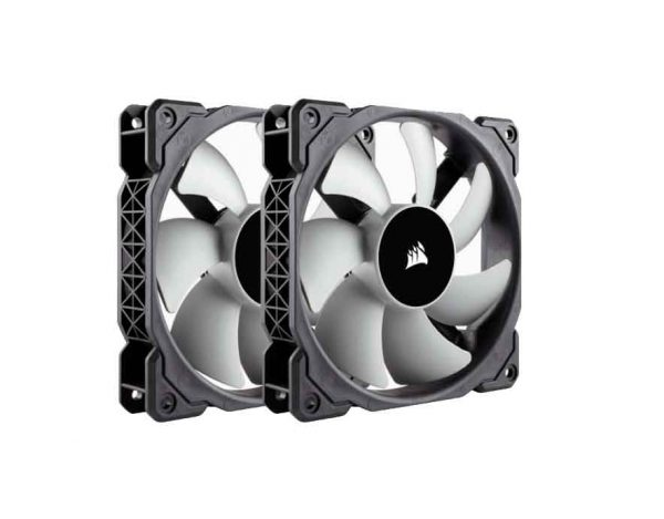 Corsair ML120 120mm PWM 40 - 2400 RPM Premium Magnetic Levitation Fan; Dual Pack (CO-9050039)