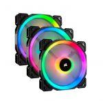 Corsair LL120 RGB 120mm Dual Light Loop RGB LED PWM 600 – 1500 RPM Cooling Fan 3 Pack with Lighting Node Pro