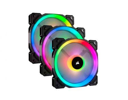 Corsair LL120 RGB 120mm Dual Light Loop RGB LED PWM 600 - 1500 RPM Cooling Fan 3 Pack with Lighting Node Pro (CO-9050072)