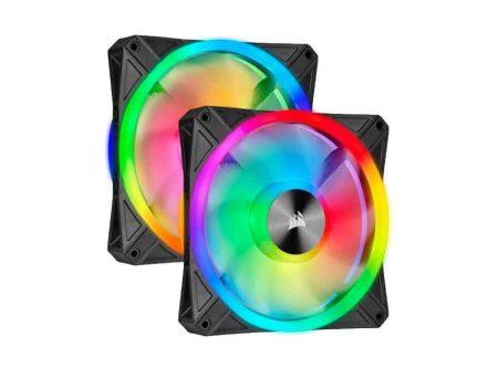 iCUE QL140 RGB 140mm PWM Dual Fan Kit with Lighting Node CORE (CO-9050100-WW)