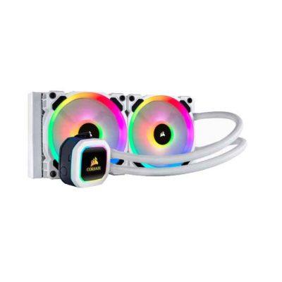 Corsair Hydro Series™ H100i PLATINUM SE RGB 240mm Liquid CPU Cooler; White