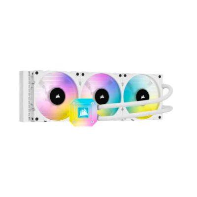 CORSAIR iCUE H150i ELITE CAPELLIX 360mm Liquid CPU Cooler – White