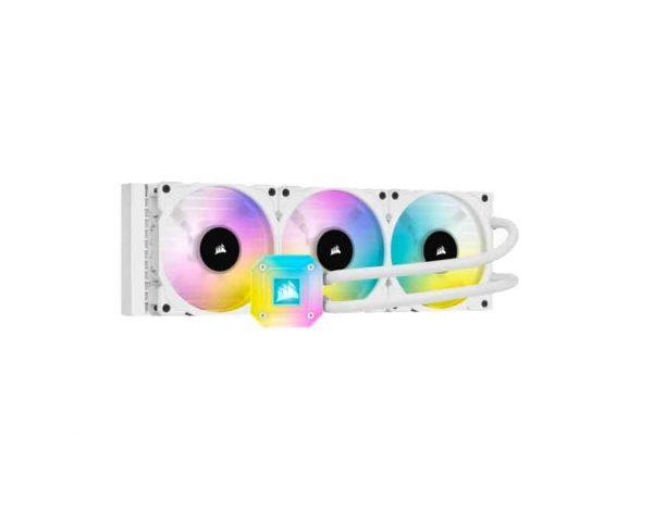 CORSAIR iCUE H150i ELITE CAPELLIX 360mm Liquid CPU Cooler - White (CW-9060051)