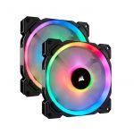 Corsair LL140 RGB 140mm Dual Light Loop RGB LED PWM 600 – 1300 RPM Cooling Fan — 2 Fan Pack with Lighting Node PRO
