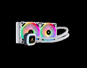 Corsair-Hydro-Series™-H100i-PLATINUM-SE-RGB-240mm-Liquid-CPU-Cooler-White-CW-9060042-WW